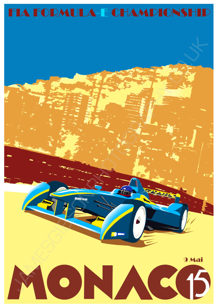 Formula e poster monaco James Gibson Photography