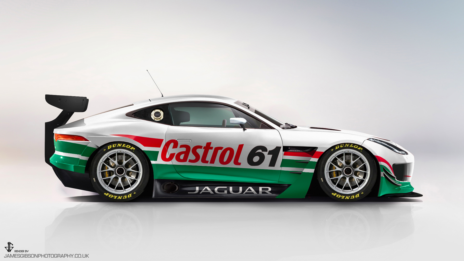 Ftype gt3 side view Castrol - James Gibson Photography