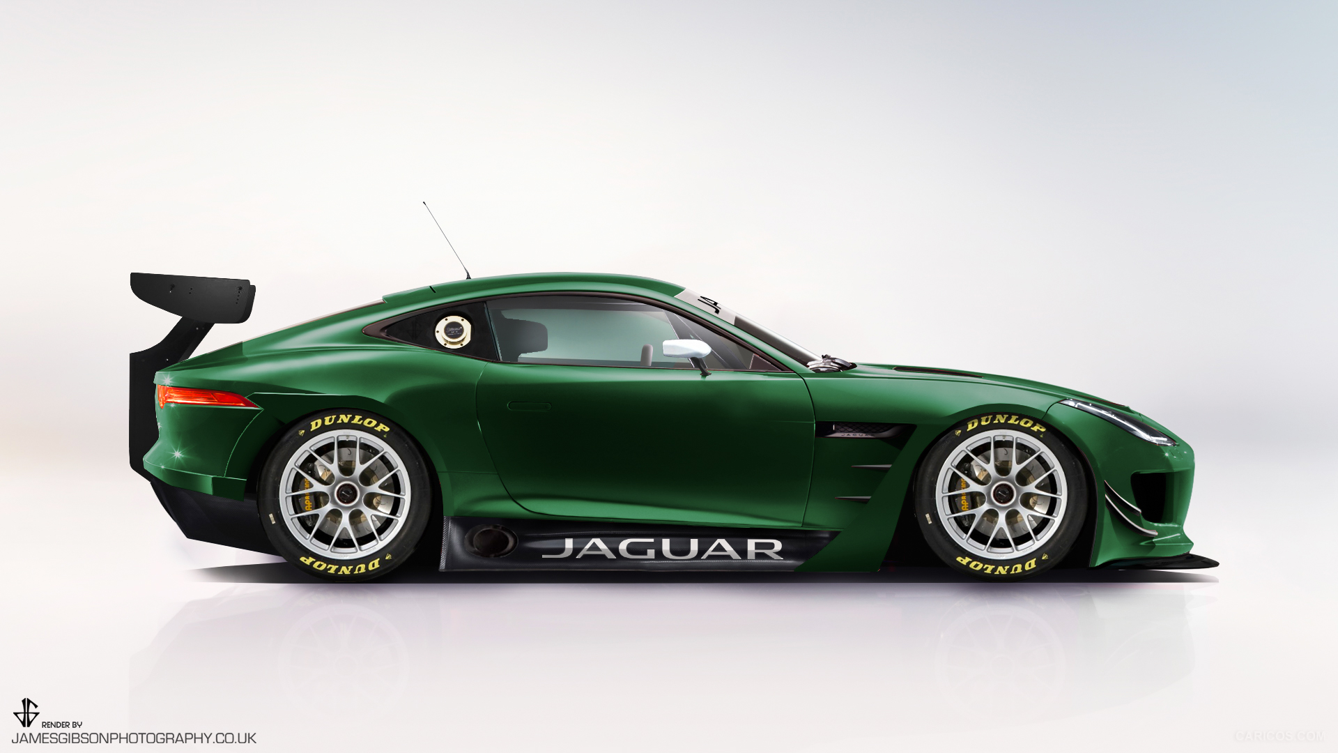 Jaguar Ftype GT3 render - James Gibson Photography