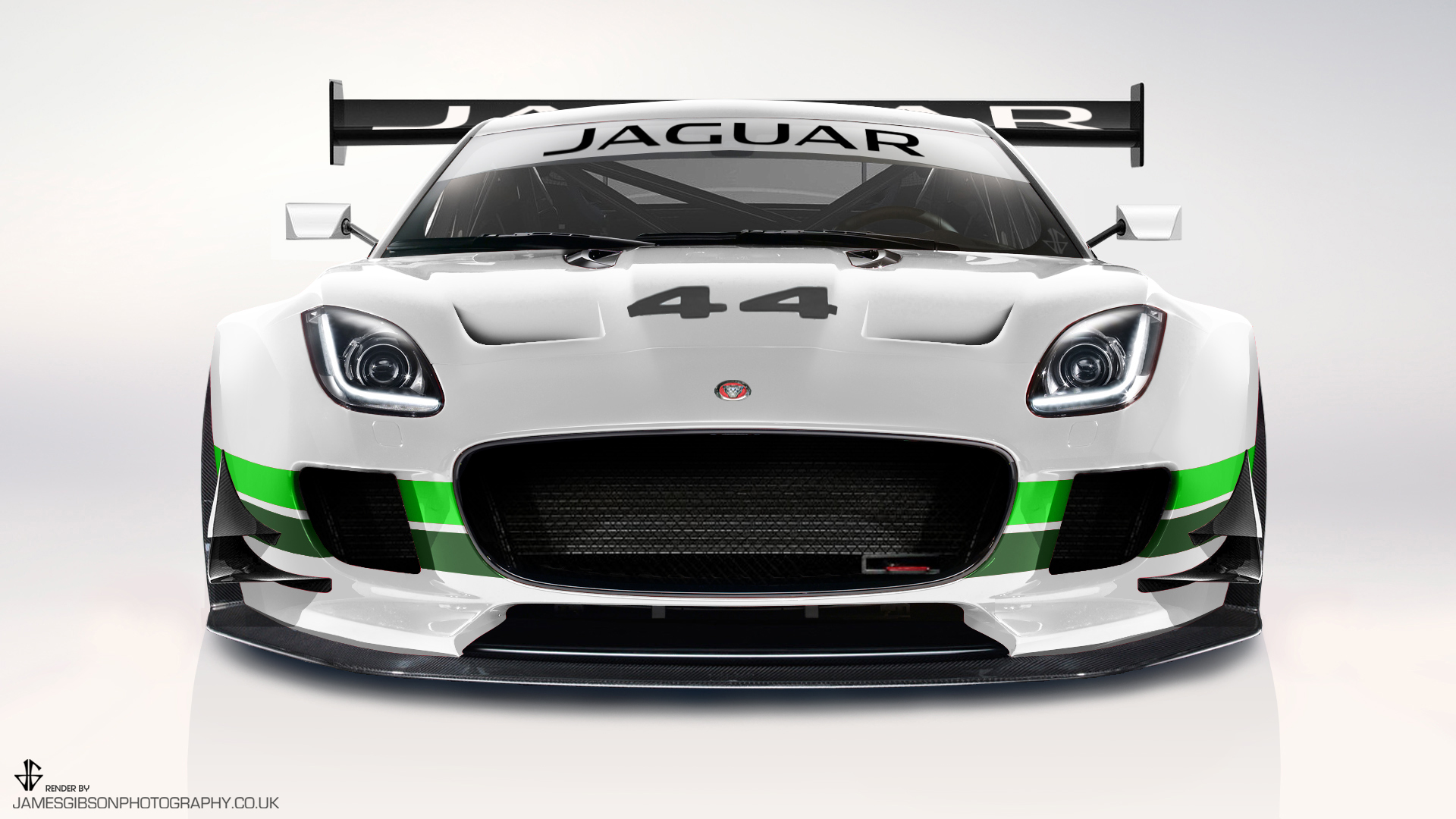 Jaguar ftype GT3 GTE render Group 44 livery - James Gibson Photography