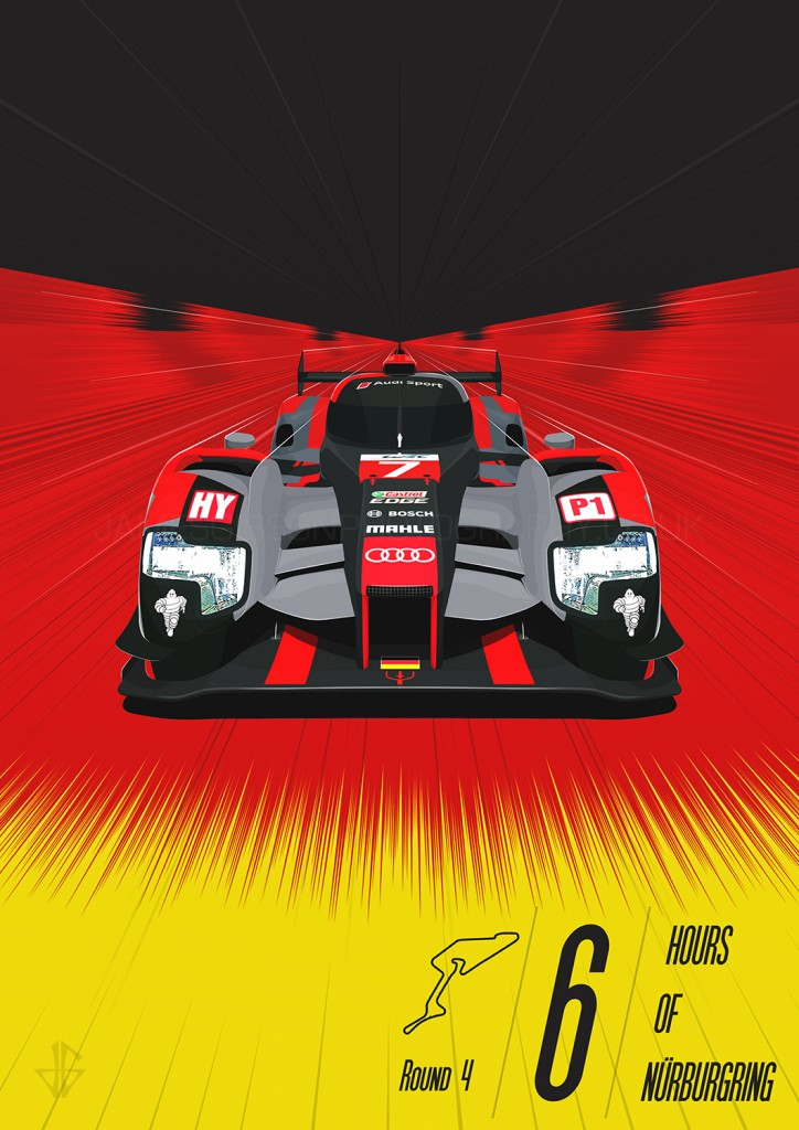 Nurburgring 6 hours poster James Gibson wm